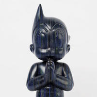 ASTRO BOY GREETING - BLUE WOODEN (VERTICAL VER.) インテリア フィギュア アートトイ