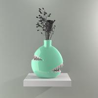 THE 'BITING VASE' Seafoam BY JOSH DIVINE ジョシュ ディヴァイン 花瓶