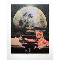 残り1枚 JOE WEBB  To The Moon And Back  - Silkscreen