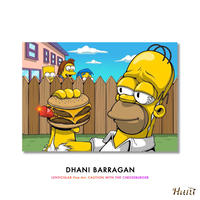 LENTICULAR Fine Art: CAUTION WITH THE CHEESEBURGER  by Dhani Barragan