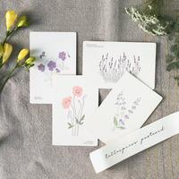 活版印刷のポストカード