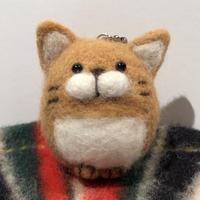 まんまる猫  キーホルダー 《ライトブラウン》