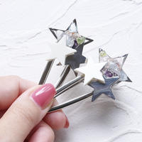 『Starry sky』 ヘアクリップ  silver