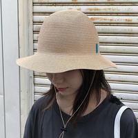 """bocodeco """"paper braid safari hat"""" / ボコデコ""""ペーパーブレードサファリハット""""(ライトベージュ)"""