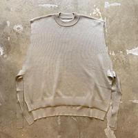 "bunt ""Fine Cotton Tape Knit Vest"" / バント ""ファインコットンテープニットベスト"" (ベージュ)"
