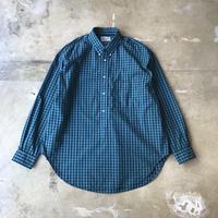 """■お問い合わせ商品■ Marvine Pontiak Shirt Makers """"B.D. Pullover L/S Shirts"""" (ブルーグリーンチェック)"""