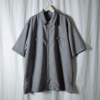 """HEALTH """"Summer Shirts #3"""" / ヘルス """"ジッパーシャツ"""" (ホワイト×ブラックチェック)"""