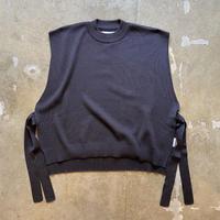 """bunt """"Fine Cotton Tape Knit Vest"""" / バント """"ファインコットンテープニットベスト"""" (チャコール )"""
