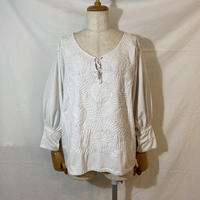 """used&vintage """"Mexican Embroidery Blouse"""" (キナリ)"""