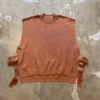 """bunt """"Fine Cotton Tape Knit Vest"""" / バント """"ファインコットンテープニットベスト"""" (ブリック)"""