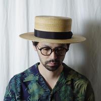 """RACAL """"Braid Boater Hat"""" / ラカル""""ブレードボーターハット"""" (ナチュラル)"""