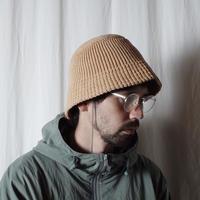 """RACAL """"Paper Knit Bucket Hat"""" / ラカル""""ペーパーニットバケットハット"""" (ベージュ)"""
