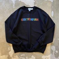 """COTTON PAN """"LOGO SW"""" / コットンパン """"ロゴスウェット"""" (ブラック)"""