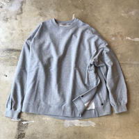 "VOTE MAKE NEW CLOTHES ""SIDE SNAP CREW SWT"" / ヴォートメイクニュークローズ ""サイドスナップスウェット""(グレー)"