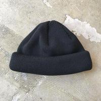"""RACAL """"Roll Knit Cap"""" / ラカル""""ロールニットキャップ"""" (ブラック)"""