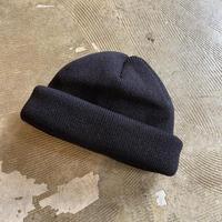 """RACAL """"Roll Knit Cap WS"""" / ラカル""""ロールニットキャップ 和紙"""" (ブラック)"""