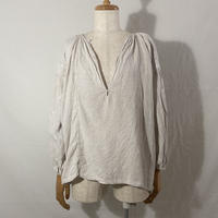"""used&vintage """"20s Ukraine embroidery linen pullover"""" (キナリ)"""