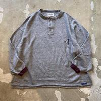 """■お問い合わせ商品■ gourmet  jeans """"ヘンリーネックスウェット""""(濃杢グレー)"""