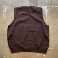 "crepuscule ""wholegarment vest"" / クレプスキュール ""ホールガーメントベスト"" (ブラウン)"