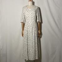 "used&vintage ""flower one-piece"" (ホワイト)"