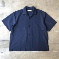 "bunt ""S/S big pocket shirts"" / バント ""半袖ビッグポケットシャツ"" (ネイビー)"