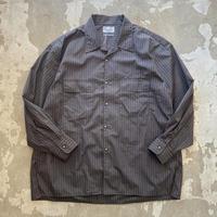 """■お問い合わせ商品■ Marvine Pontiak Shirt Makers """"Open Collar SH"""" (ブラウン×ブルー)"""
