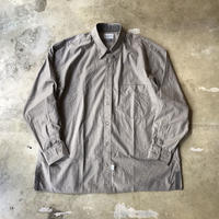 "■お問い合わせ商品■ Marvine Pontiak Shirt Makers ""Two Tone L/S Shirts"" (セピア)"
