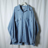 "■お問い合わせ商品■ Marvine Pontiak Shirt Makers ""Open Collar SH"" (ブルーカルゼ)"