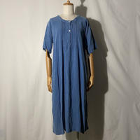 """used&vintage """"antique linen one-piece"""" (ブルー)"""