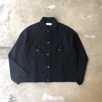 "bunt ""Knitted Corduroy Big York Jacket"" / バント ""ニットコーデュロイビッグヨークジャケット"" (ネイビー)"