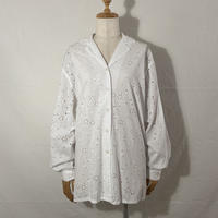 "used&vintage ""punching lace shirts"" (ホワイト)"
