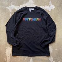 """COTTON PAN """"LOGO L/S"""" / コットンパン """"ロゴ長袖Tee"""" (ブラック)"""