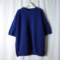 "crepuscule ""MOSS STITCH S/S"" / クレプスキュール ""鹿の子半袖ニット"" (ブルー)"
