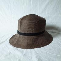 """bocodeco """"Paper Braid Rollable Hat"""" / ボコデコ""""ペーパーブレイドローラブルハット"""" (ブラウン)"""