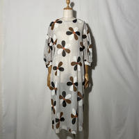 "used&vintage ""flower see-through one-piece"" (ホワイト)"