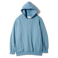 "SANDINISTA ""Hooded Pocket Sweatshirt"" / サンディニスタ ""シームポケット付きパーカー"" (マンダリンブルー)"