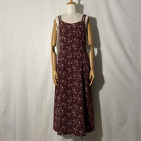 "used&vintage ""flower cami one-piece"" (エンジ)"