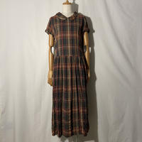 """used&vintage """"check one-piece"""" (レッドチェック)"""