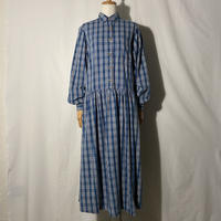 """used&vintage """"check one-piece"""" (ブルーチェック)"""