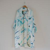 linen coat - sky blue