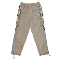 doublet  20AW20PT135 CHAOS EMBROIDERY SUEDE TRACK PANTS (GREY)