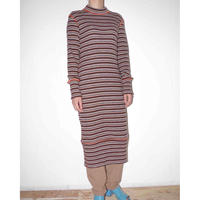 osakentaro    rib knit dress(stripe)  no.9906113
