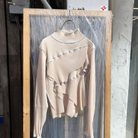 kotohayokozawa Pleats top long-sleeve high neck / TDKT-P06