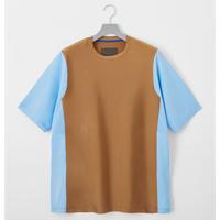 FUMITO GANRYU  Rash Guard Rebuilt XXL T-shirt Brown × Light Blue Fu5-Cu-06
