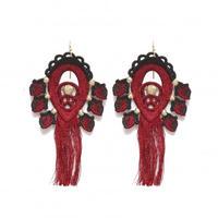 BANSAN  /  Utopia charm Pierce/Earrings-RED