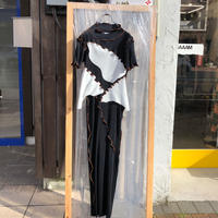kotohayokozawa  / pleats dress short sleeve high neck   / TDKT-PD04