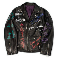 doublet  MESSAGE HAND-PAINTED RIDER'S JACKET 20AW02BL104