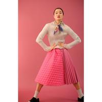 BANSAN Fur jacquard pleat tops | BSAW19-FR008