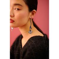 BANSAN  /  Drop frower  Piace/Earrings-BLUE