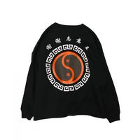 shei shei co.LTD SHEI SHEI CIRCLE BIG SWEAT CREW (BLK) SS-19S-CT04-B